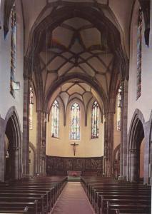 Церковь Св. Петра Старого в Страсбурге, общий вид интерьера католической части