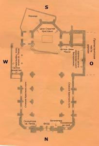 Церковь Св. Петра Старого в Страсбурге, план католической части