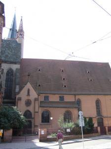 Церковь Св. Петра Старого в Страсбурге, вход в протестантскую часть