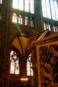 Кафедральный собор Страсбурга, зелёный луч