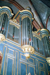 Церковь Св. Петра Молодого в Страсбурге, интерьер, орган