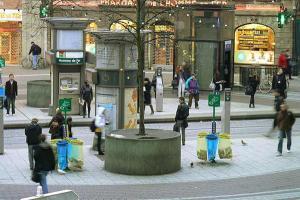 Трамвайная остановка в Страсбурге, площадь Железного Человека