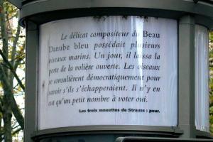 Трамвайная остановка в Страсбурге, тексты УЛИПО
