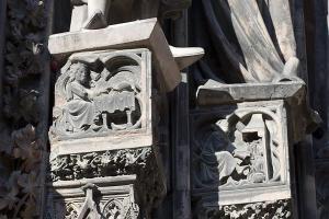 Кафедральный собор Страсбурга, северный портал центрального фасада
