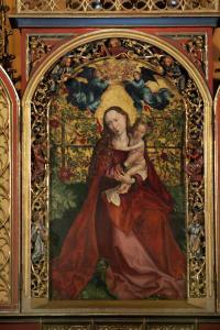 «Мадонна в беседке из роз», Доминиканская церковь, Кольмар, Франция