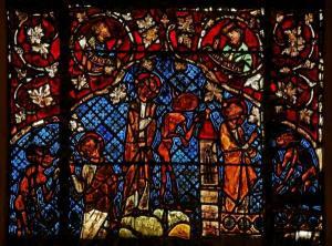 Кафедральный собор Страсбурга, витраж со сценами жития Иисуса