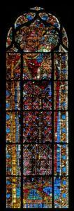 Кафедральный собор Страсбурга, витраж с изображением св. Христофора
