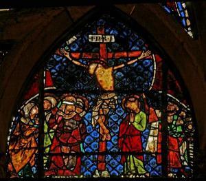Кафедральный собор Страсбурга, витраж со сценами Страстей Христовых