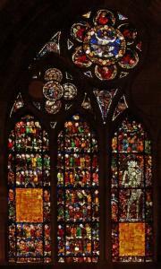 Кафедральный собор Страсбурга, витраж со сценами Страшного суда