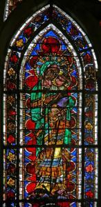 Кафедральный собор Страсбурга, витраж с изображением Мадонны