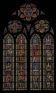 Кафедральный собор Страсбурга, витраж с изображением воинов-мучеников