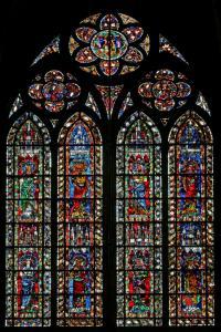 Кафедральный собор Страсбурга, витраж с изображением святых
