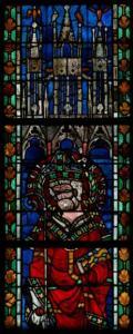 Кафедральный собор Страсбурга, витраж с изображением воинов-мучеников и епископов