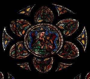 Кафедральный собор Страсбурга, витражная роза