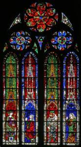 Кафедральный собор Страсбурга, витраж с изображением суда Соломона