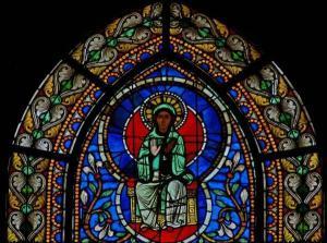 Кафедральный собор Страсбурга, витраж с изображением Богородицы