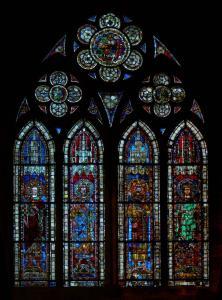 Кафедральный собор Страсбурга, витраж, императоры