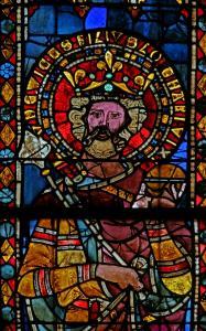 Кафедральный собор Страсбурга, витраж, император Лотарь