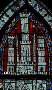 Кафедральный собор Страсбурга, витраж, балдахин