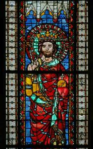 Кафедральный собор Страсбурга, витраж, император Людовик I Благочестивый
