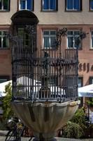 Фонтан «Волынщик» в Нюрнберге, Германия