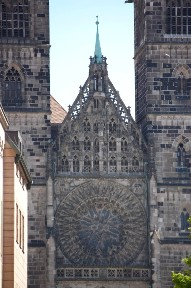 Фасад церкви Св. Лаврентия (фото авторов сайта), Нюрнберг