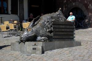 Заяц Дюрера в Нюрнберге, Германия