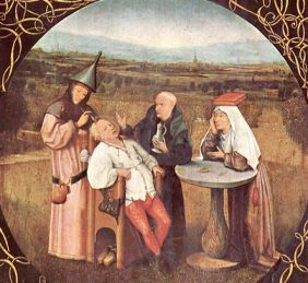 Извлечение камня глупости, картина Босха (источник: ru.wikipedia.org)