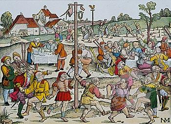 Пляска носов (цветная вариация на тему гравюры нюрнбергского художника Ганса Зебальда Бехама; 1534) (источник: superstock.com)