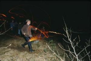Эльзасский обычай метания огненных колёс