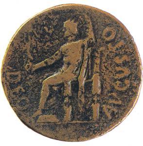 Монета с изображением статуи Августа, Таррагона, Испания