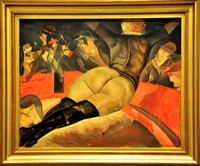 Борис Григорьев, «В цирке», 1918