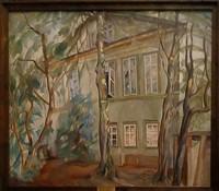 Борис Григорьев, «Дом под деревьями» (1918)
