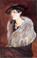 Борис Григорьев, Портрет А.Е.Грилихес (1917)