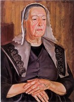 Борис Григорьев, «Женщина из Бург де Батц», 1925