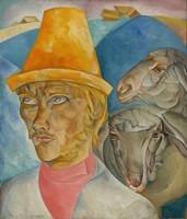 Борис Григорьев, «Клюев-пастырь» (1920)