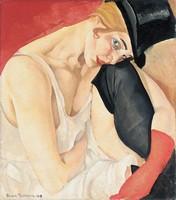 Борис Григорьев, «Женщина в цилиндре», 1919