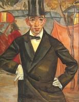 Борис Григорьев, Портрет фотографа М.А.Шерлинга (1916)