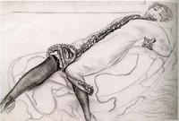 Борис Григорьев, «Лежащая женщина»
