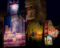 Выставка фонарей на карнавале, Базель, Швейцария