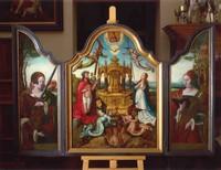 Новозаветная Троица с мистическим источником животворящей крови Христа, приписывается Жану Белльгамбу и его мастерской