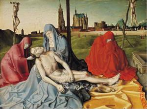 Последователь Конрада Вица, Оплакивание Христа