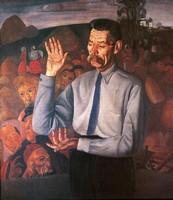 Борис Григорьев, Портрет Горького, 1926
