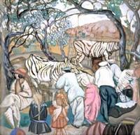 Борис Григорьев, «У зебр (в зоологическом саду)»