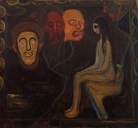 Эдвард Мунк, Девочка и три мужских головы