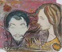 Эдвард Мунк, Мужская голова в женских волосах