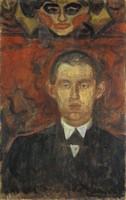 Эдвард Мунк, Автопортрет под женской маской
