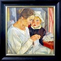 Борис Григорьев, «Мать и дитя» (1918)