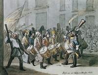 утреннее шествие 1843 года на карнавале, Базель, Швейцария
