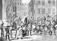 утреннее шествие 1850 года на карнавале, Базель, Швейцария